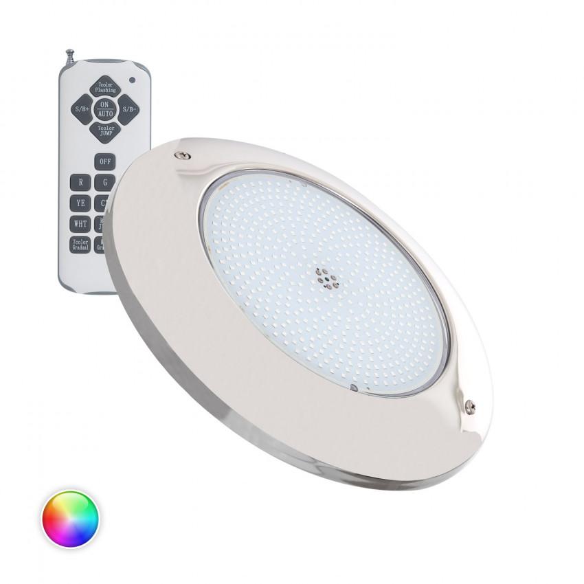 Faretto Piscina LED Superficie RGB 12V AC Acciaio Inox 35W