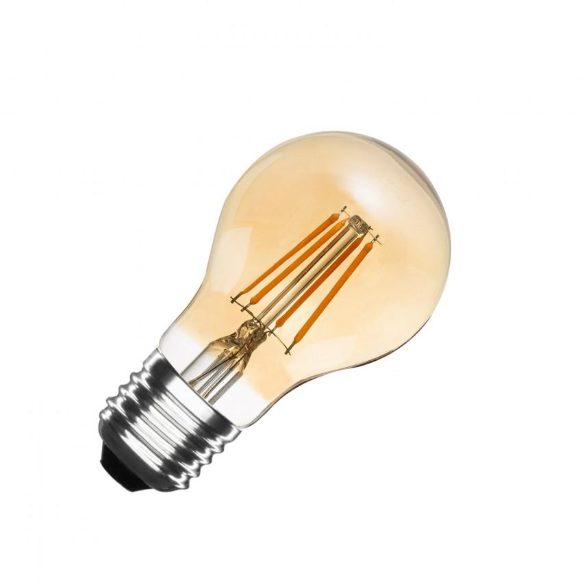 Lampadina LED E27 Regolabile Filamento Gold Classic A60 6W