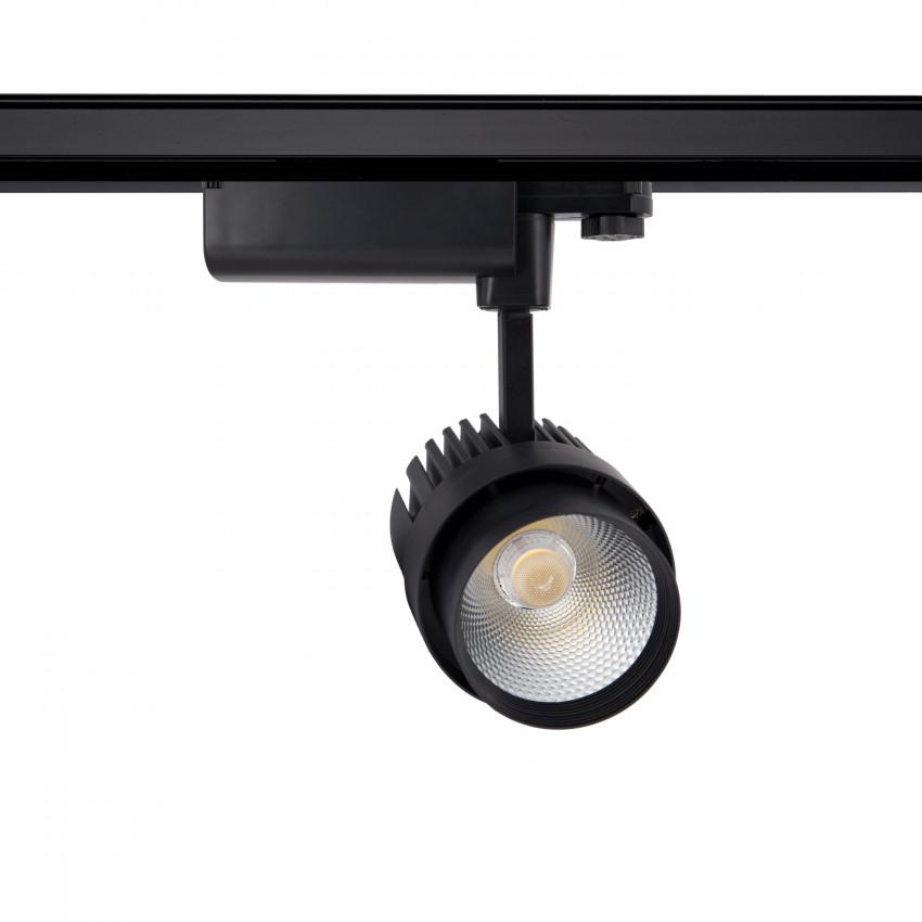 Faretto LED Dora 30W Nero per Binario Trifase