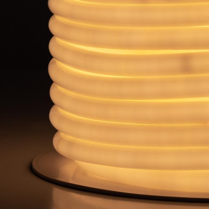 Bobina Striscia LED Neon Flessibile Circolare 360 120LED/m IP67 Bianco Caldo 50 Metri