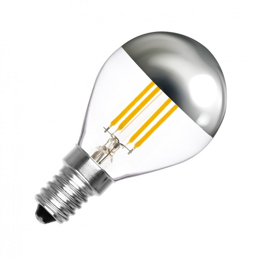 Lampadina LED E14 G45 Regolabile Filamento Reflect 3.5W