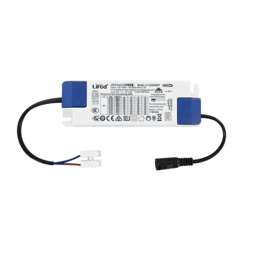 Driver LIFUD Regolabile DALI 220-240V No Flicker Output 20-42V 550-1050mA 23-40W LF-GSD040PF
