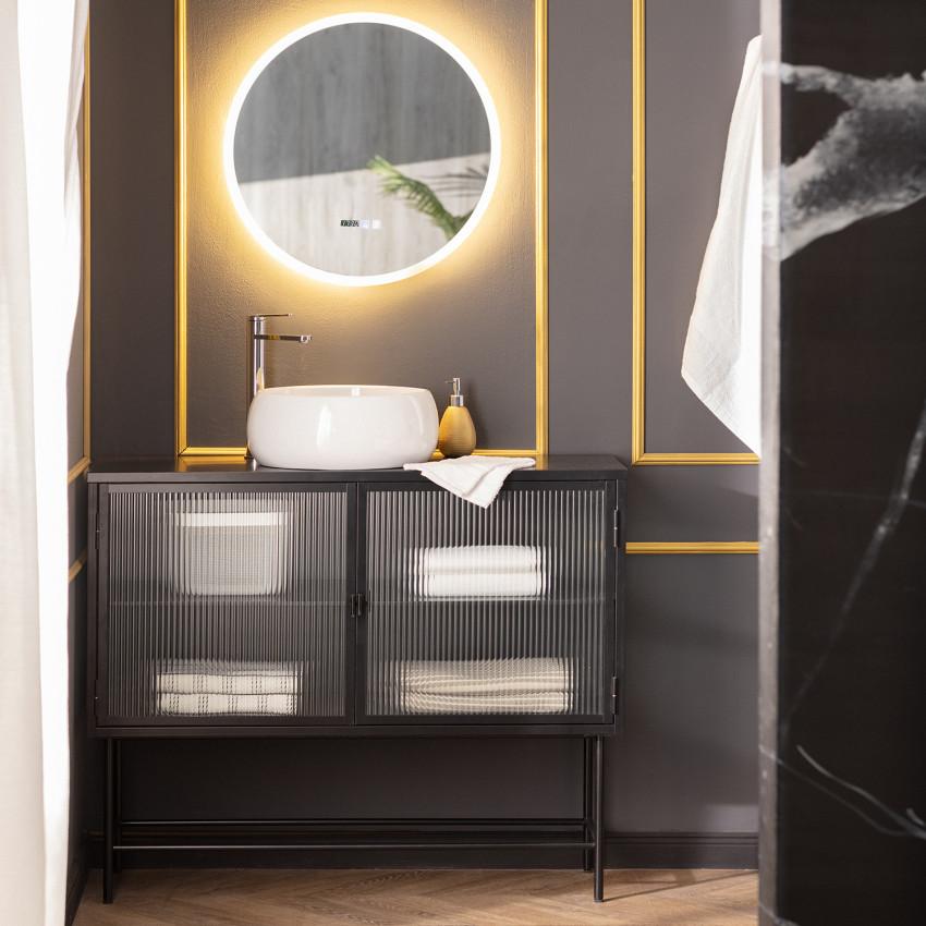 Specchio LED Antiappannamento Touch Palolem Ø60 cm