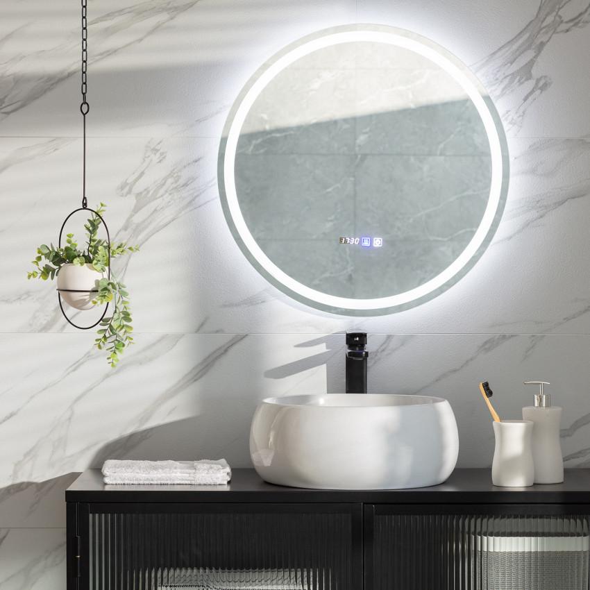 Specchio LED Antiappannamento Touch Stiniva Ø 60cm