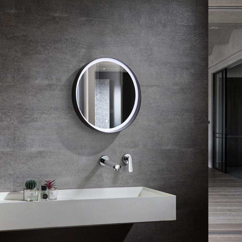 LEDKIA LIGHTING Specchio LED Decorativo Fiyi 40W Antiappannamento Bianco Freddo 6000K 6500K