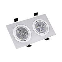 Faretto LED Downlight Orientabile Rettangolare 2x3x1W