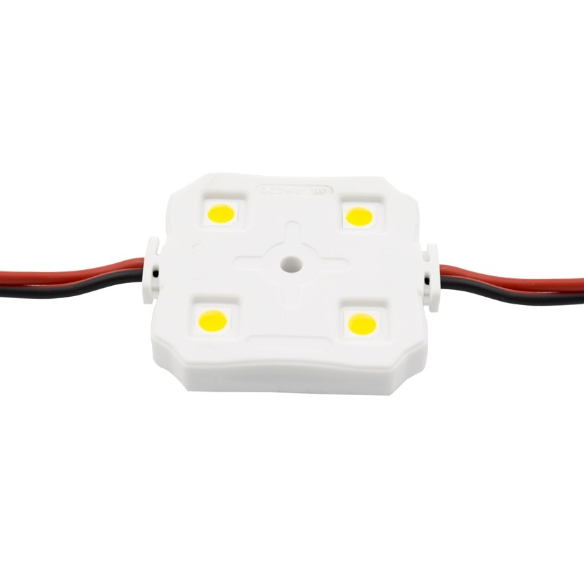 Chain of 20x 1W 12V SMD5050 Square LED Modules (x4)