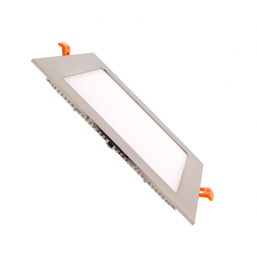 Silver Square 18W UltraSlim LED Panel 205x205mm Cut-Out