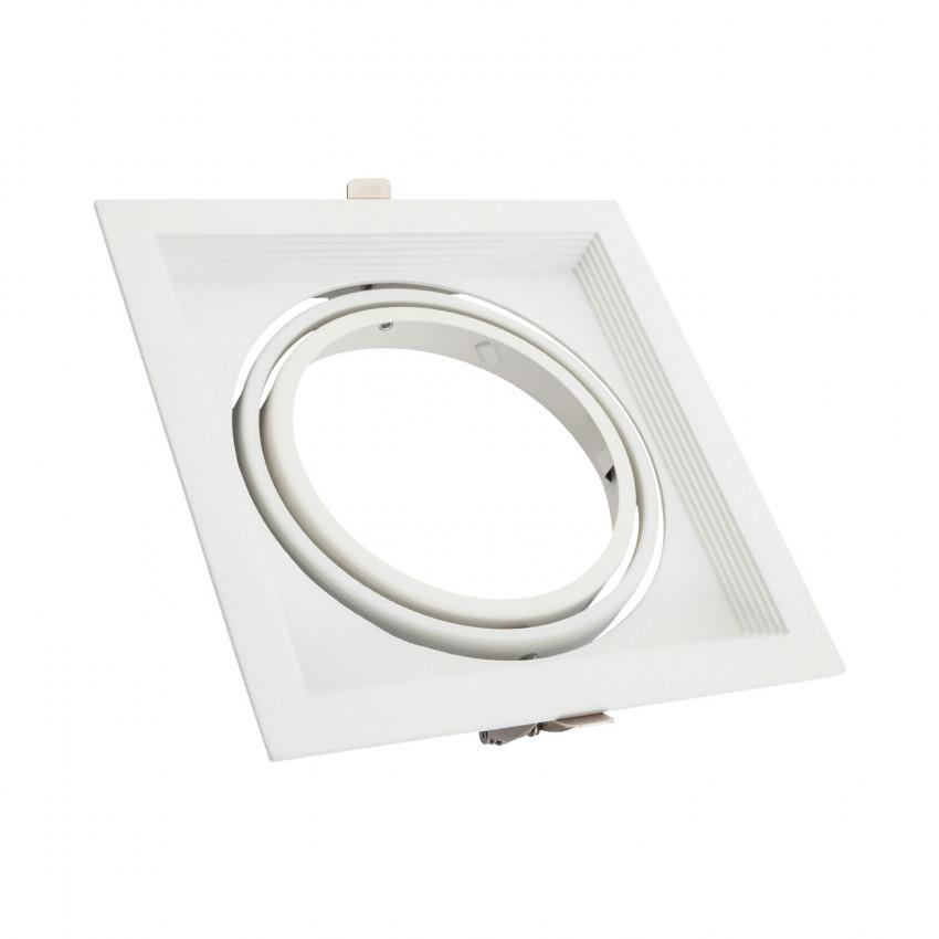 Square Tilting Halo Aluminium Downlight for an AR111 LED Bulb