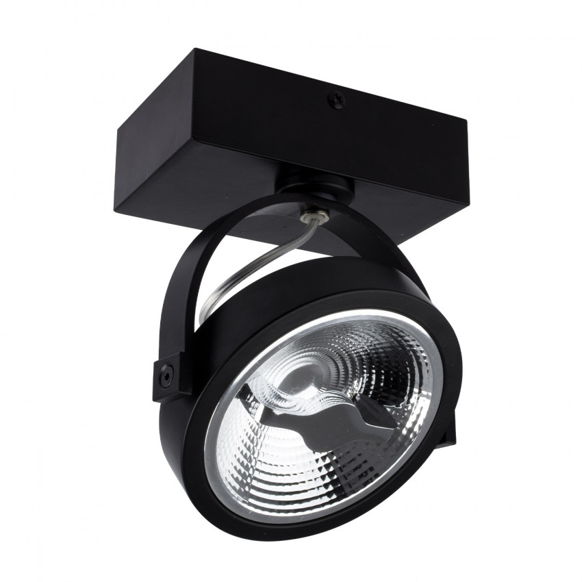 Adjustable 15W AR111 CREE LED Surface Spotlight in Black (Dimmable)