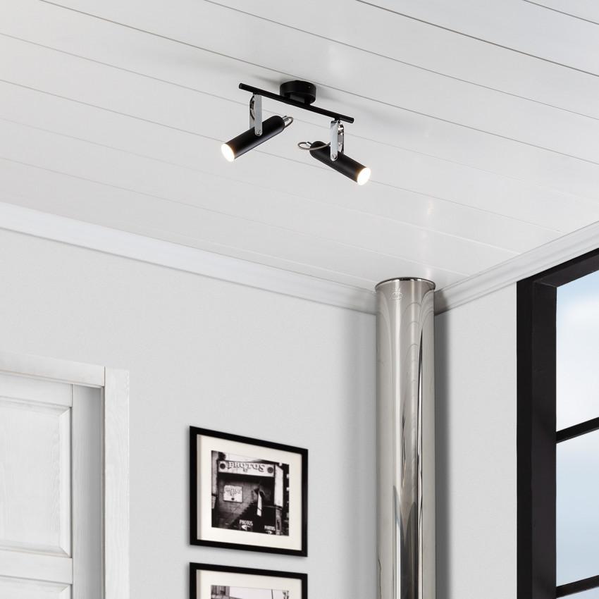Adjustable 8W Bari LED Surface Spotlights (x2)