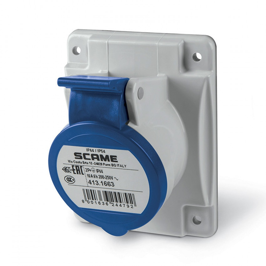 SCAME Optima Series 16 A  Wall Base - IP54