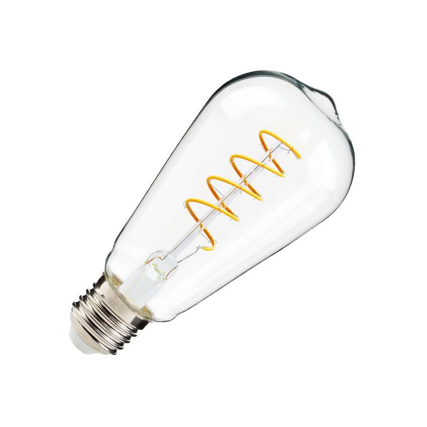 ST64 E27 4W Big Lemon Spiral Filament LED Bulb (Dimmable)
