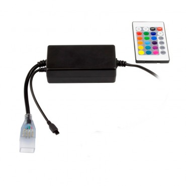 UltraPower Controller for a 220V RGB LED Strip + IR Remote Control with 24  Buttons