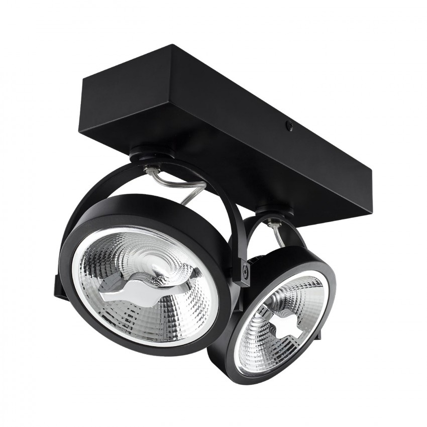 Adjustable 30w Ar111 Cree Led Surface Spotlight In Black