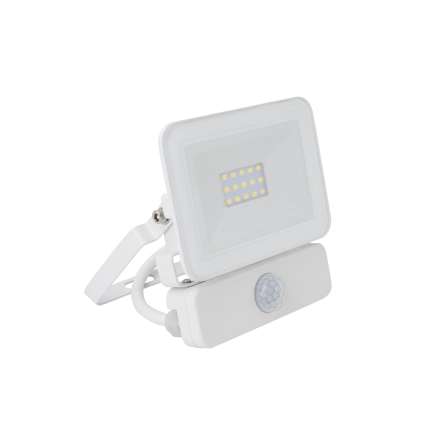 Slim 10w Led Floodlight With A Pir Motion Sensor Ledkia Light Switch Security Flood Series Foco Proyector Con Detector