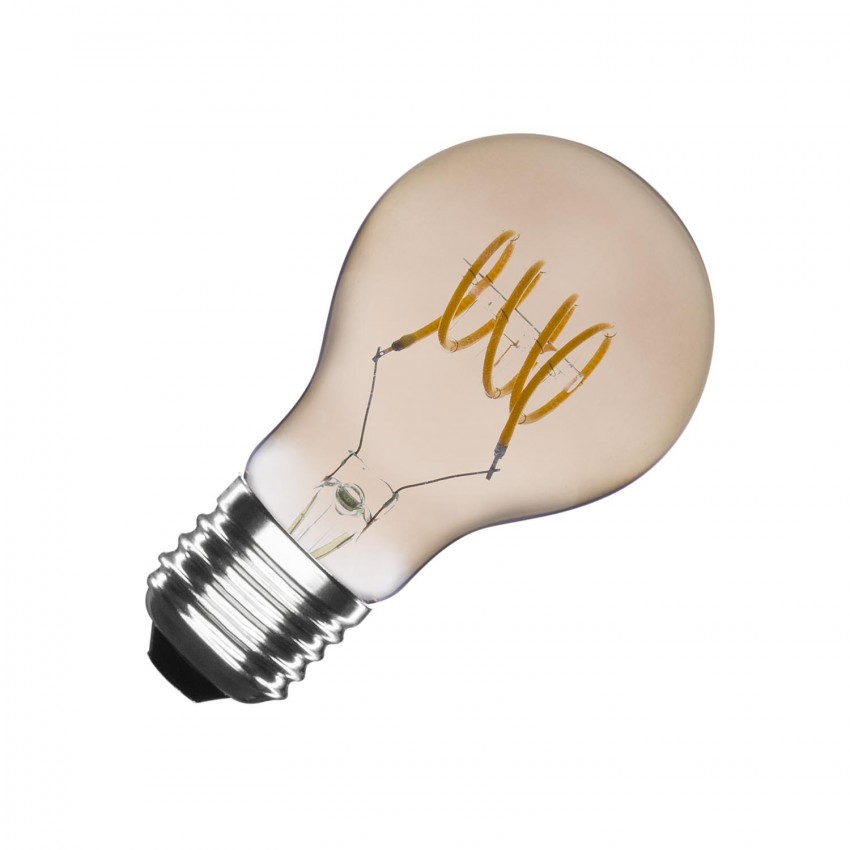 A60 E27 4W Classic Smoke Spiral Filament LED Bulb (Dimmable)