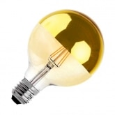 G125 E27 6W Supreme Gold Reflect Filament LED Bulb (Dimmable)