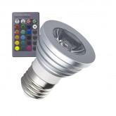 E27 3W RGB LED Bulb