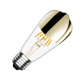 ST64 E27 7.5W Gold Reflect Filament LED Bulb (Dimmable)