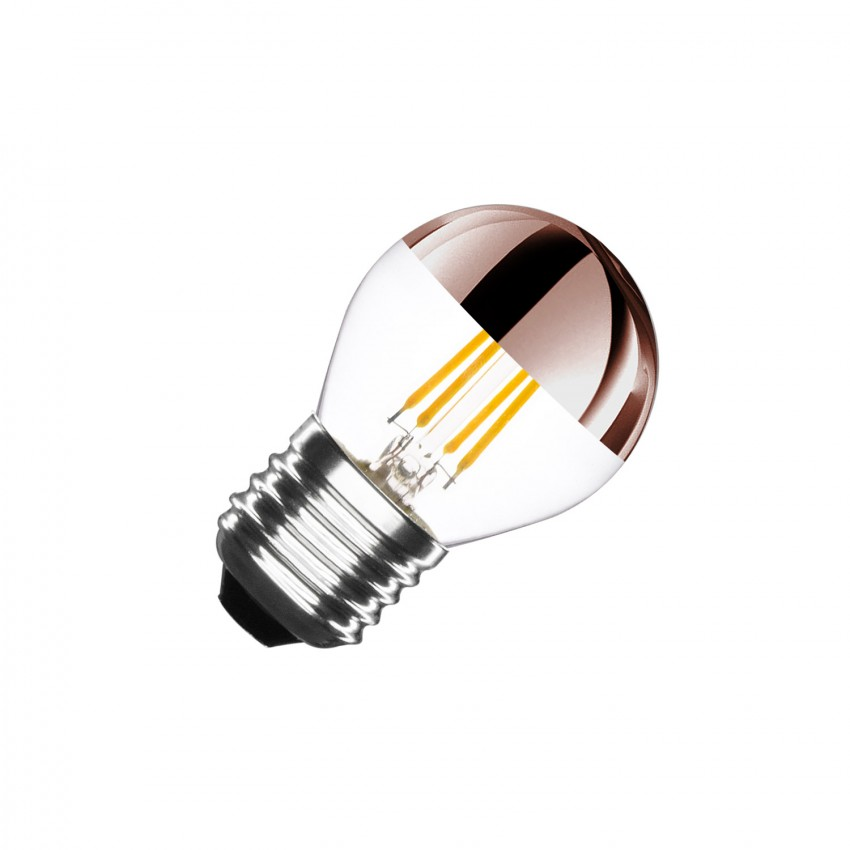 G45 E27 4W Copper Reflect Filament LED Bulb (Dimmable)