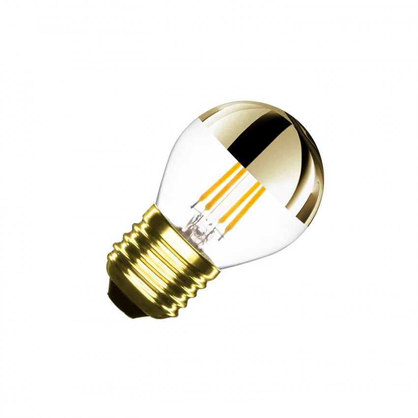 4W G45 E27 Dimmable Gold Reflect Small Classic Filament LED Bulb