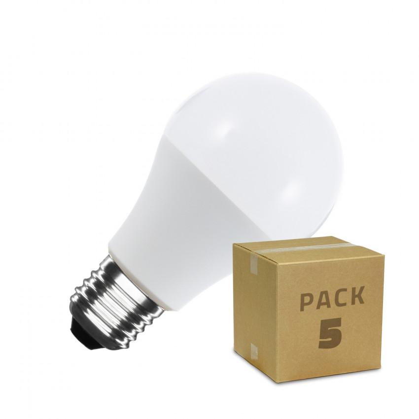 Pack of 5 A60 E27 9W LED Bulbs