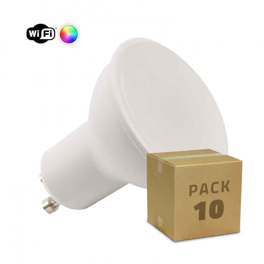 Pack of 10 4W GU10 Dimmable Smart WiFi RGBW LED Bulbs