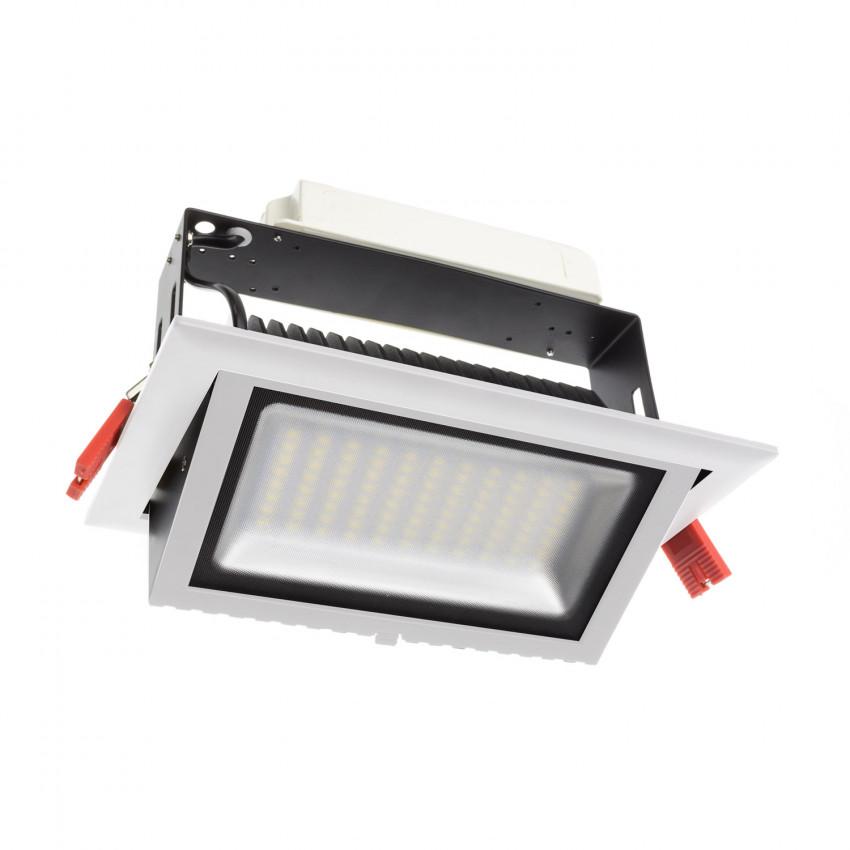 Black 48W Adjustable Rectangular SAMSUNG LED Spotlight Projector Rectangular Design (120lm/W) - LIFUD