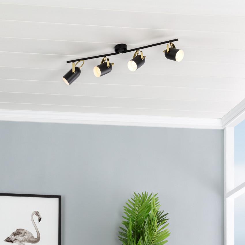 Adjustable Cano Surface Spotlights in Black (x4)