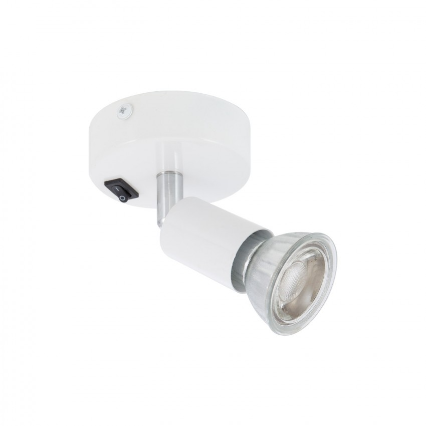Adjustable Oasis Ceiling Spotlight in White with Switch