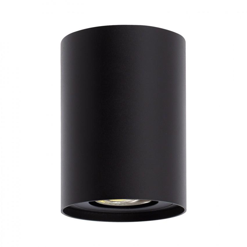 Aluminium Quartz Ceiling Light in Black