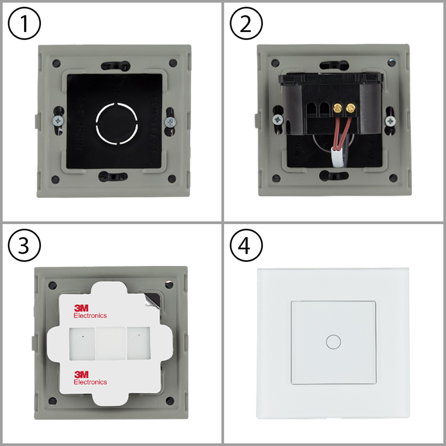 1 Gang Way Simple Touch Dimmer Switch Ledkia 220v Ac Lamp Regulador Tctil Doble
