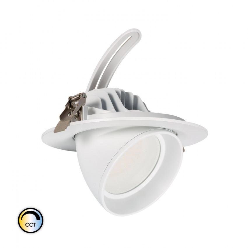 Round Addressable 38W SAMSUNG LED 125 lm/W CCT LED LIFUD Dimmable Spotlight