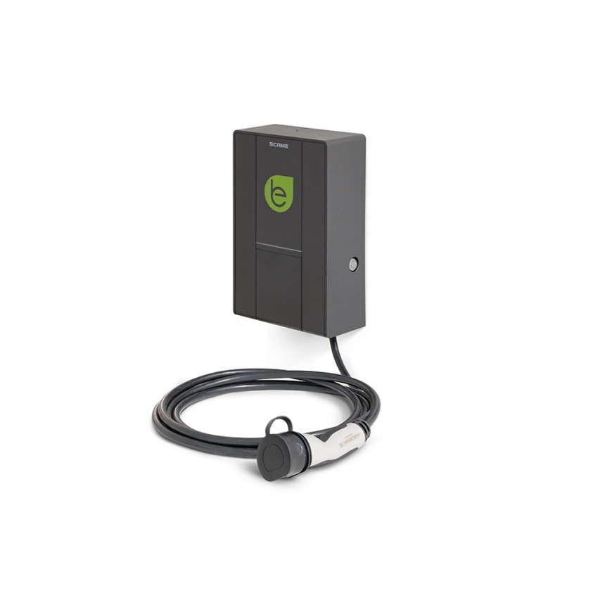 7.4 kW Single Phase  Electric Car Charger and Mennekes Cable with SCAME 205.W73-S0 User Management
