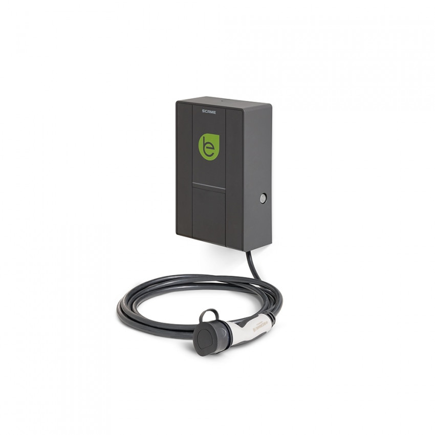22 kW Three-phase Electric Car Charging Point and Mennekes Cable with User Management SCAME 205.W73-U0