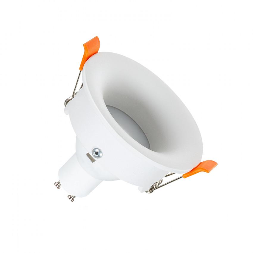 White Round Halo Downlight for GU10 / GU5.3 LED Bulbs (indrect light)