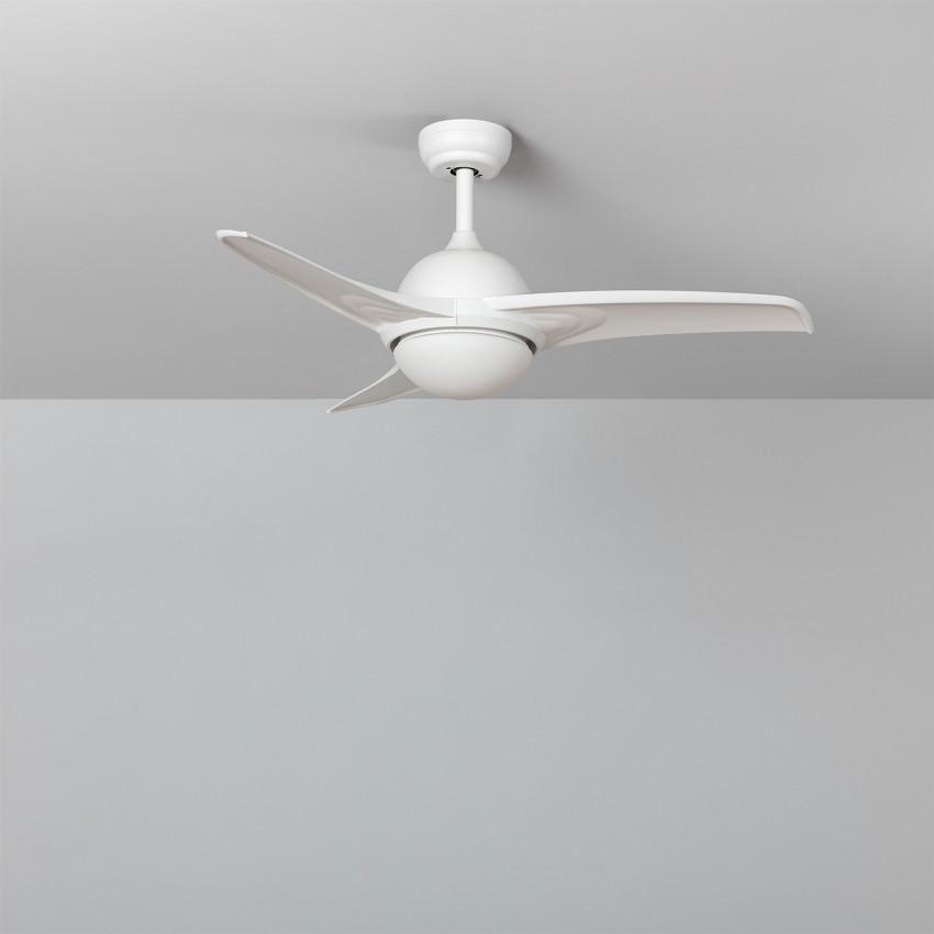 White 107cm Aran LED Ceiling Fan with DC Motor