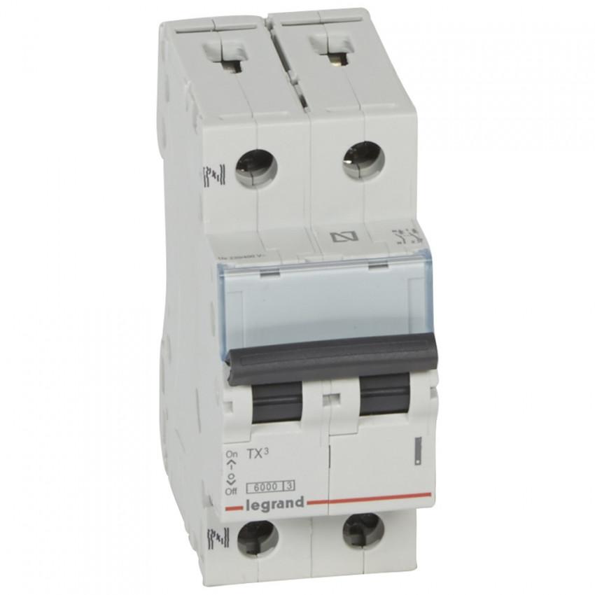 LEGRAND 403585 Curve C 6kA 10-40 A TX3 Tertiary 1P+N Thermal-Magnetic Circuit Breaker