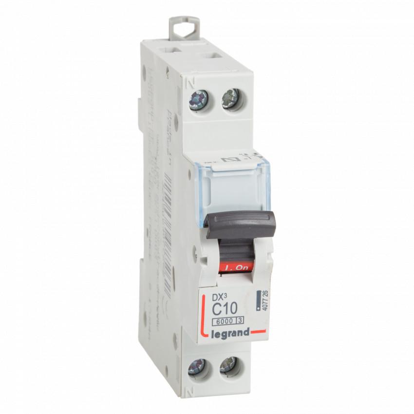 LEGRAND 407726 Curve C 10kA 10-32 A DX3 Tertiary 1P+N Thermal-magnetic Circuit Breaker