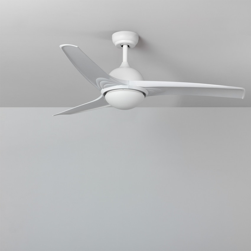 White 132cm LED Ceiling Fan with DC Motor