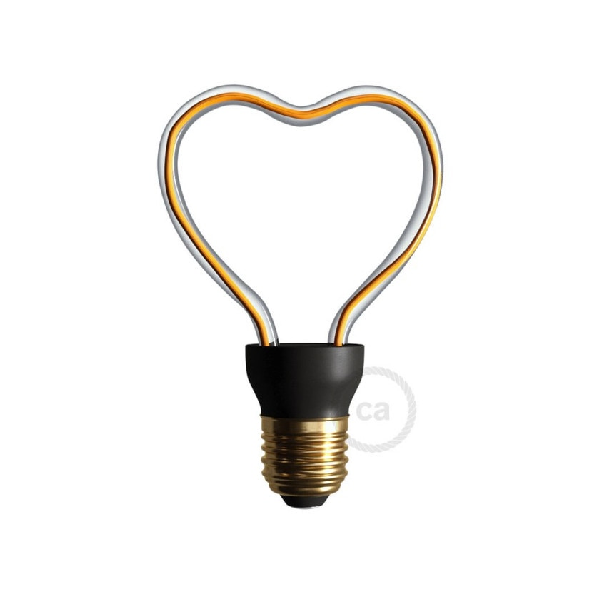 8W E27 Creative-Cables Art Heart SEG50148 Dimmable Filament LED Bulb