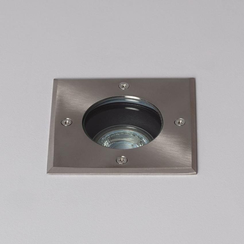 Square Recessed Floor Spotlight Inox IP67