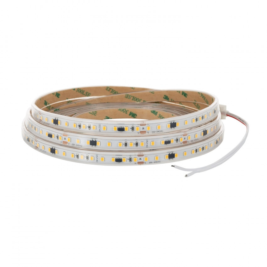 220V AC 120 LED/m High Lumen Cool White IP65 LED Strip Without Rectifier Custom Cut every 10 cm