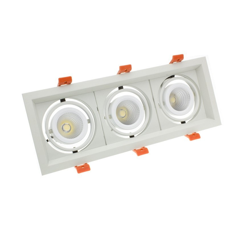 3x10W Adjustable Madison CREE-COB LED Spotlight in White - LIFUD (UGR 19) 295x110mm Cut Out