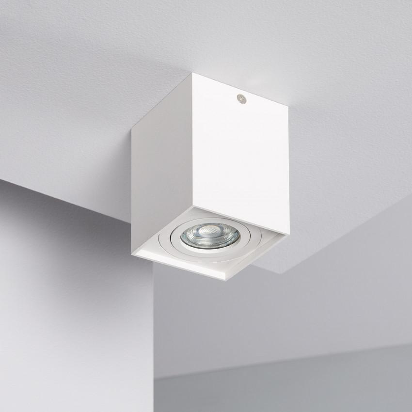 Aluminium Jaspe Ceiling Light in White