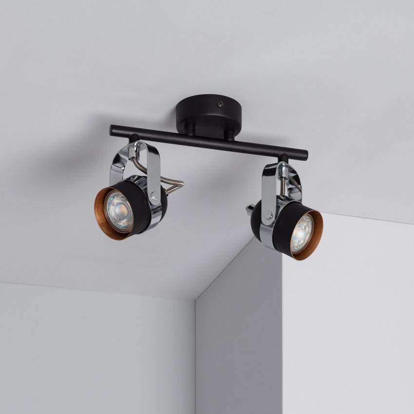 Adjustable Sinner Surface Spotlights in Black (x2)