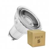 PACK of Glass GU10 7W COB LED Bulbs (Dimmable) (5 Units)