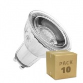 PACK of Glass GU10 220V 7W COB LED Lamps (Dimmable) (10 Units)