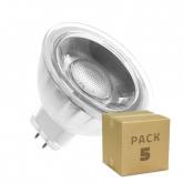 PACK of Glass GU5.3 MR16 220V 5W COB LED Lamps (5 Units)